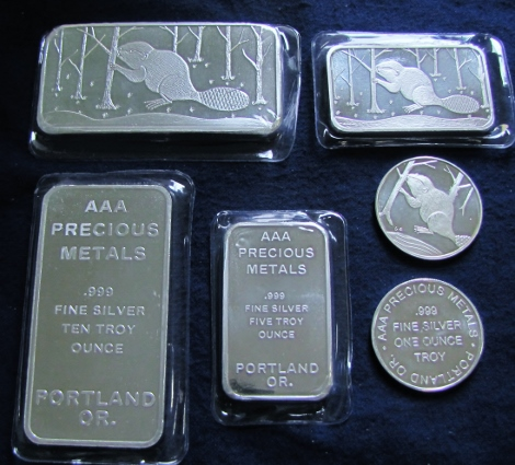 AAA Precious Metals Investment sales - Silver coins and ingots